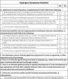 aspergers checklist, autism symptoms checklist