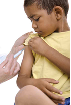 child getting vaccines