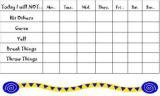 Free printable daily behavior chart template good for school or home