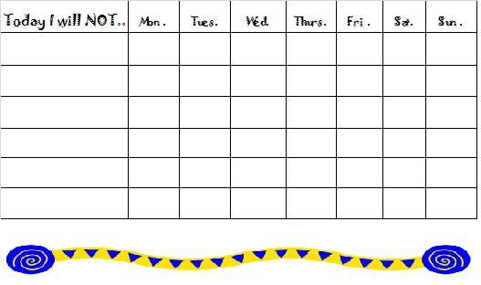 Free Behavior Charts Printable Certificates for Kids – Kids Behavior Chart Template