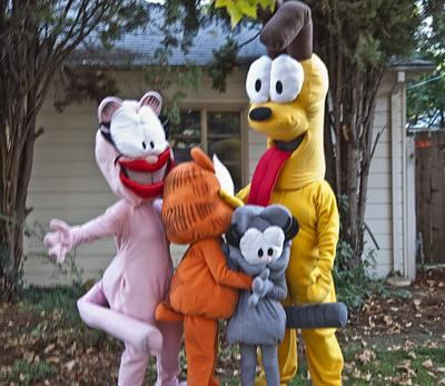 Garfield and Friends Group Hug