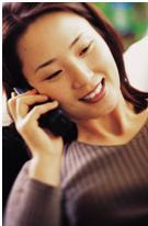 Women talking on the phone to do work from home