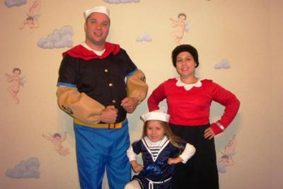 Popeye, Olive Oyl, and a Sailor Girl