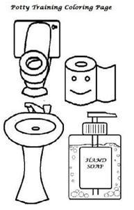 coloring page to download and use as potty training tools