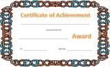 printable certificates for kids, blank award certificates