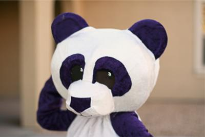 Purple panda head