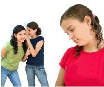 girls being bullies in school to classmate