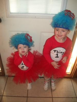 Thing 1(Natalee) and Thing 2 (Juliette), ages 3 and 15 months