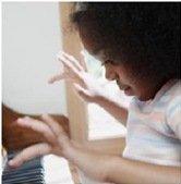 child displaying stimulatory autism symptoms