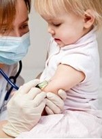 child receiving vaccines that parents are afraid may cause autism