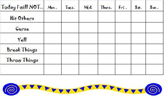 Free Behavior Charts Printable Certificates for Kids – Sample Star Chart Template