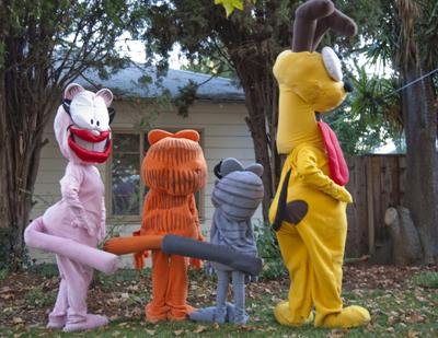 Garfield and Friends Back view