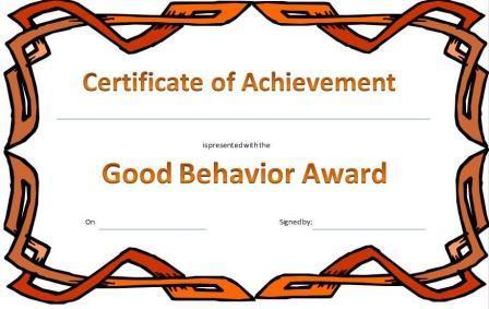 kid award certificate