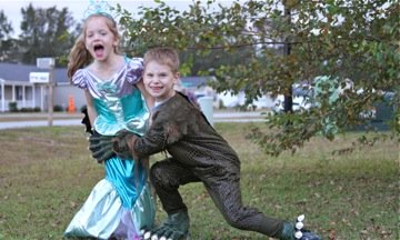 Swamp Monster catches a Mermaid!
