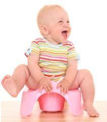 Little girl on toddler toilet seat choosing when to start potty training